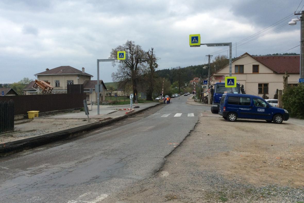 Oprava silnice v Tetčicích na Brněnsku