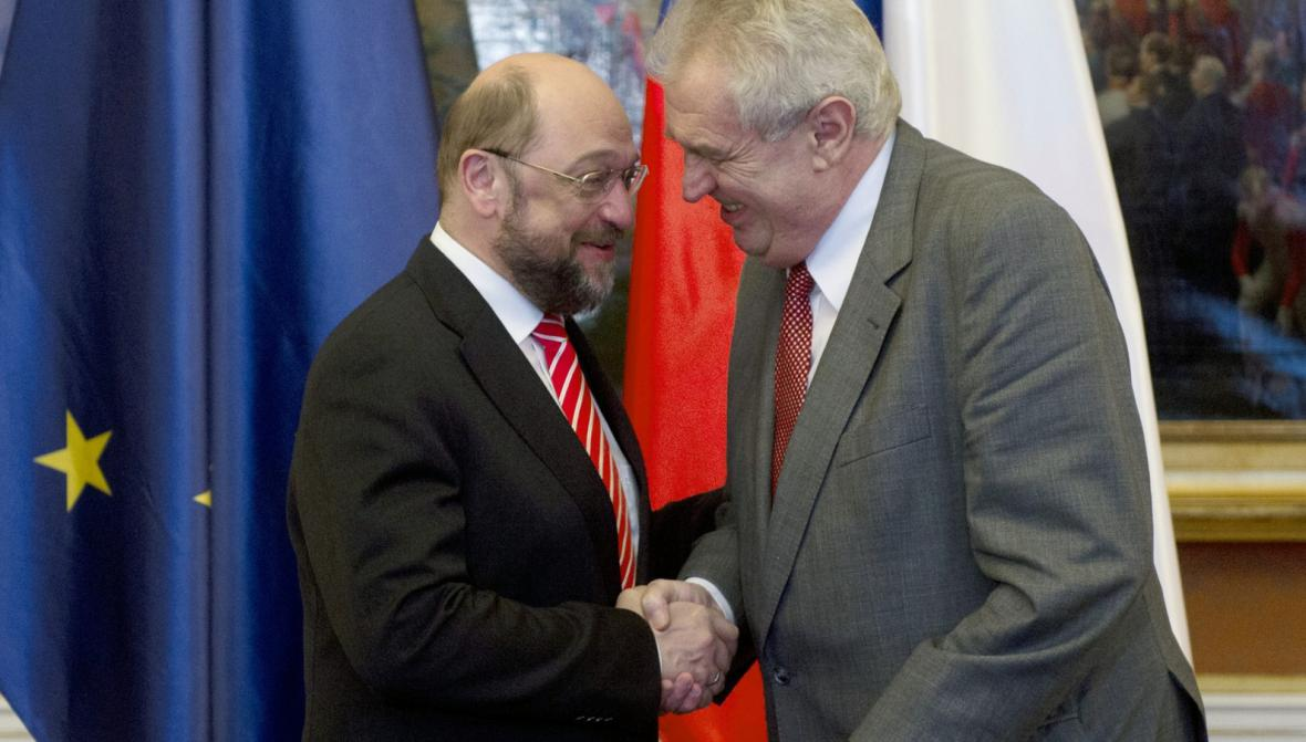 Martin Schulz a Miloš Zeman