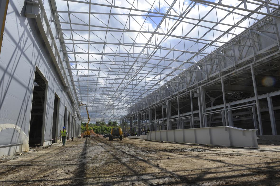 Stavba nového depa v Plzni