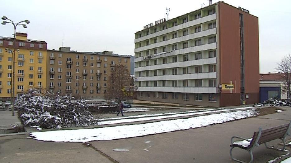 Pohled na blanenský hotel Dukla
