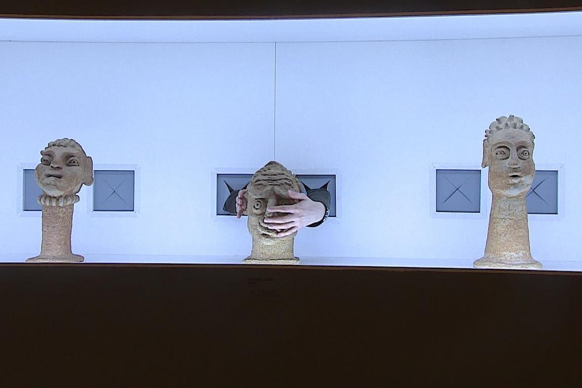 Návštěvníci si mohou vyzkoušet svůj hmat