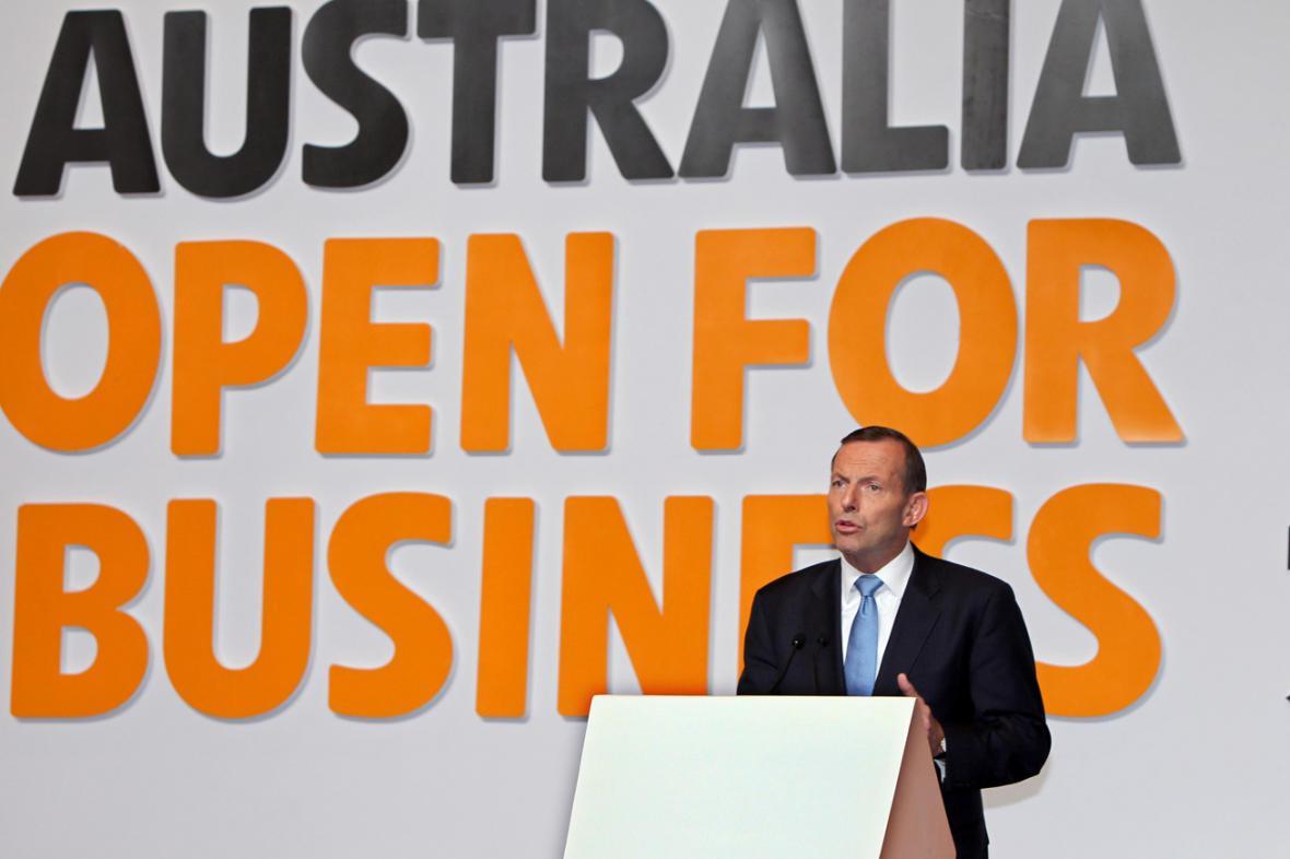 Tony Abbott na návštěvě Číny