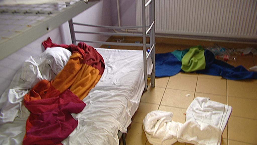 Opuštěný pokoj na jedné z ubytoven