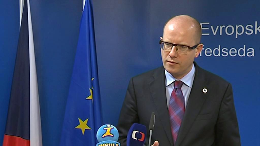Bohuslav Sobotka po jednání mimořádného summitu EU