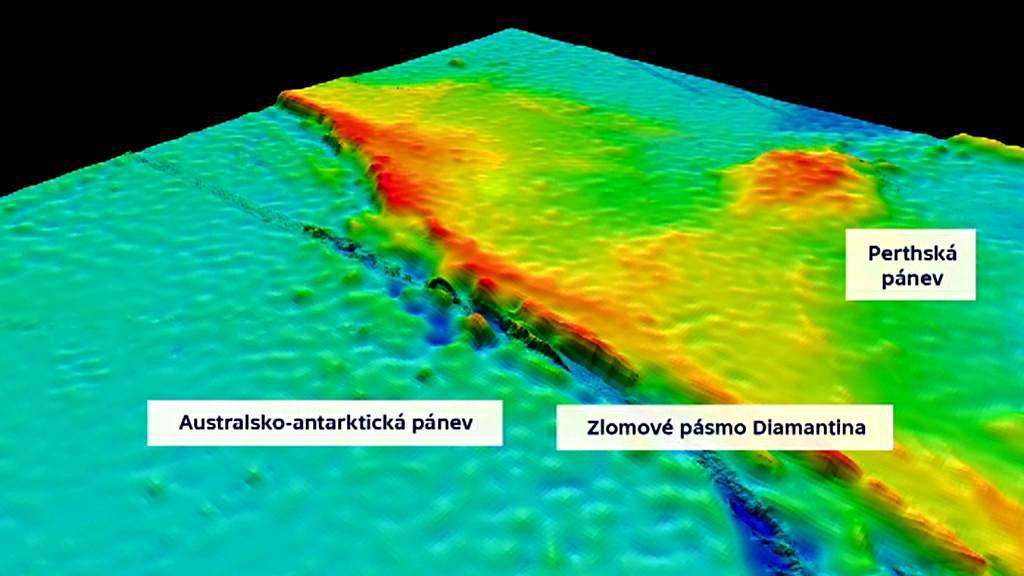 Podmořské dno v místě předpokládaného zřícení letu MH370