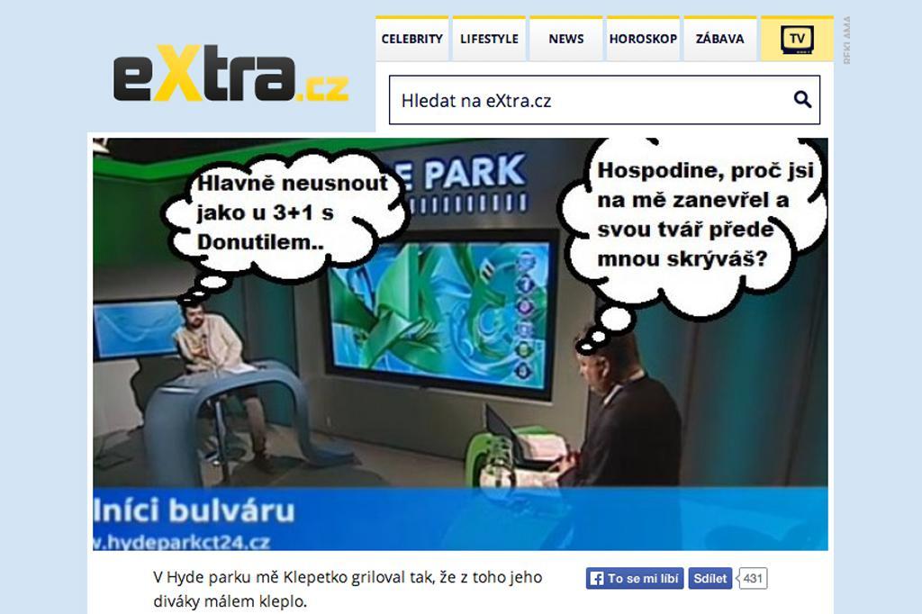 Náhled webu Extra.cz