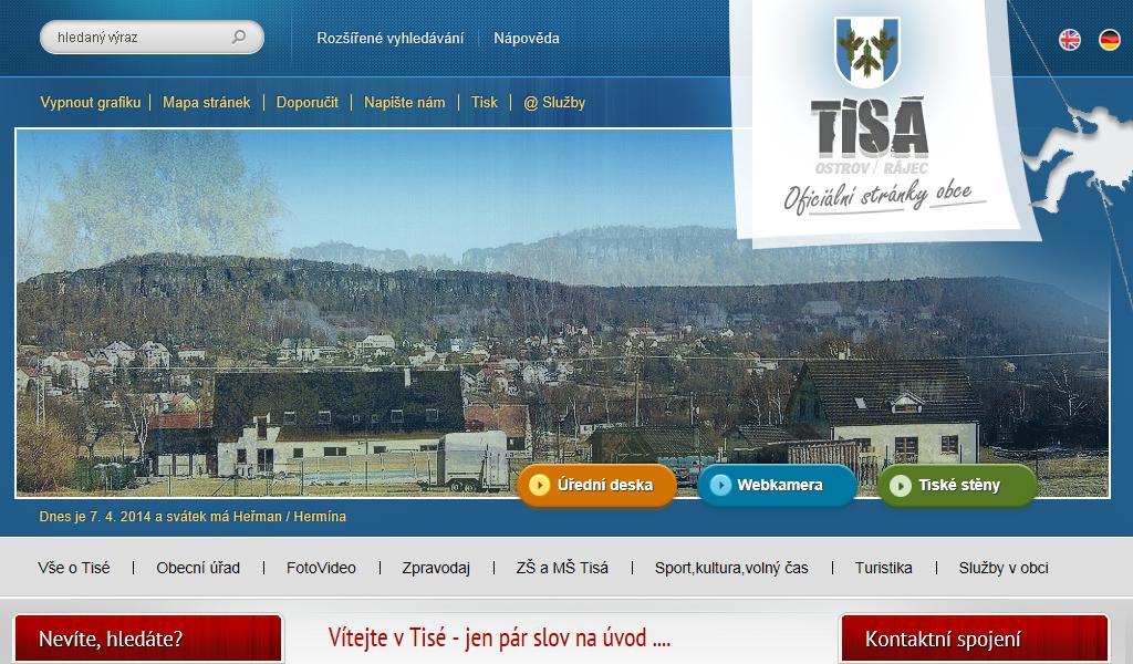 Web obce Tisá