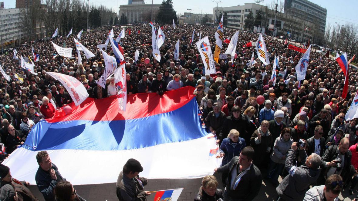 Demonstrace proruských aktivistů