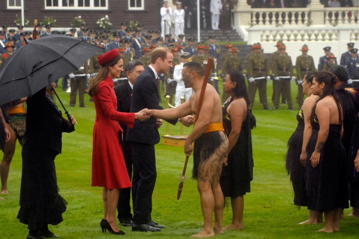 Maorské přivítání pro Williama a Kate