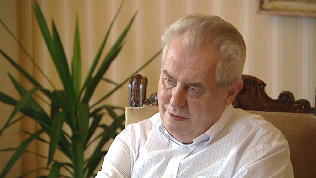 Miloš Zeman v Hovorech z Lán