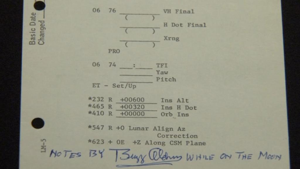 Poznámky člena Apolla 11 Buzze Aldrina