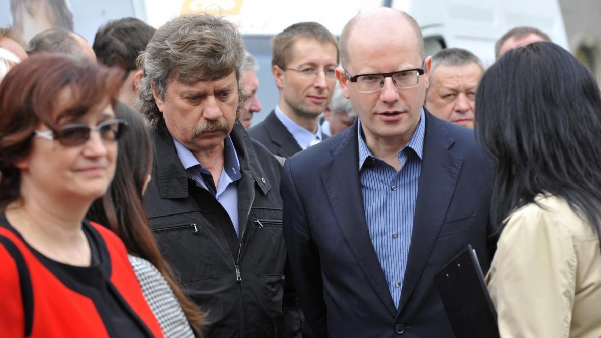 Jan Keller a Bohuslav Sobotka