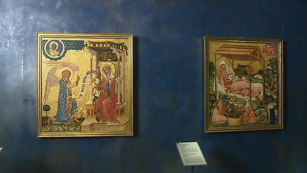 Deskové malby Mistra vyšebrodského oltáře v NG