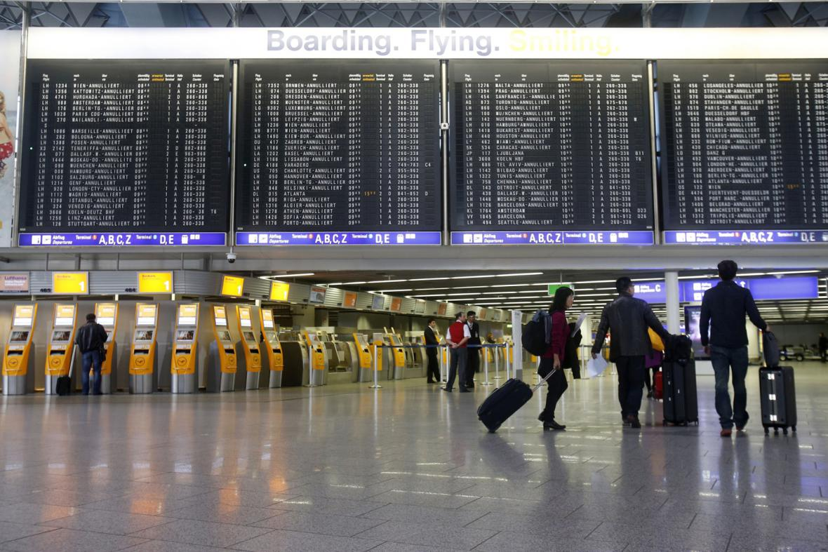 Stávka na letišti ve Frankfurtu