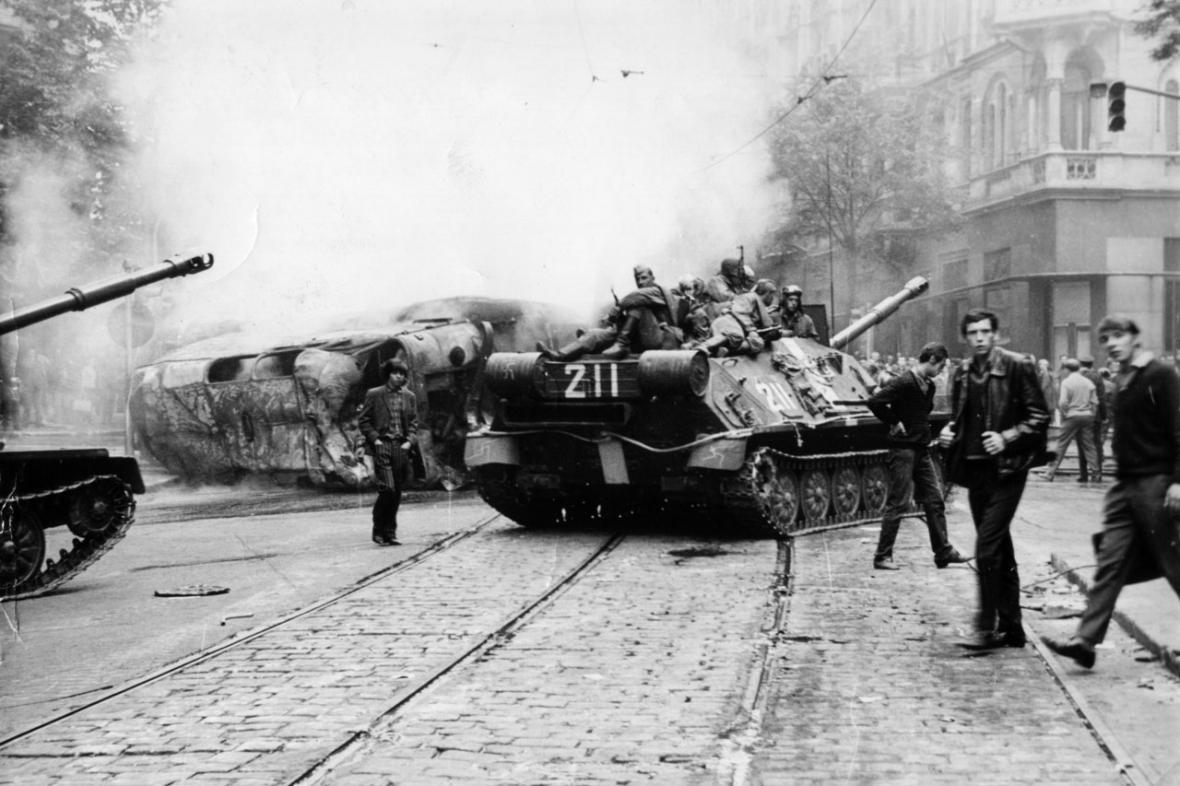 Srpen 1968 v Praze (Varšavská ulice)