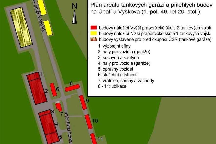 Plán tankových garáží na Úpalí
