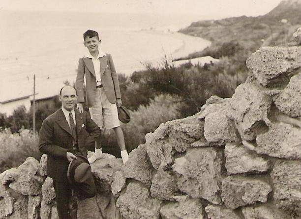 Heliodor Píka se synem Milanem