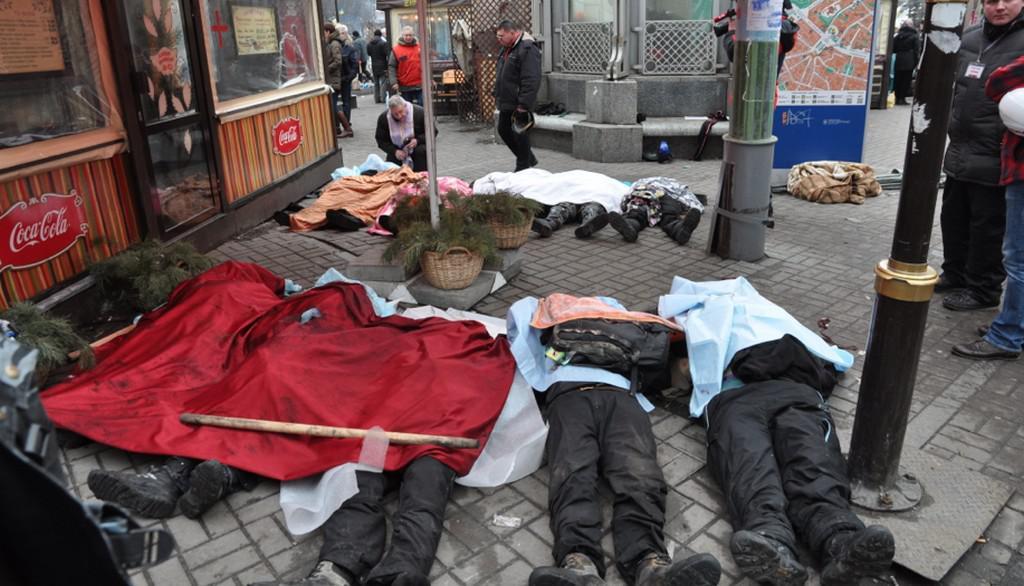 Mrtví v ulicích Kyjeva