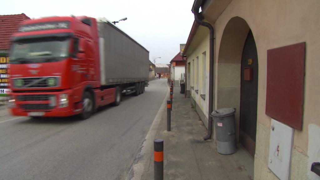Kamionová doprava v Kardašově Řečici