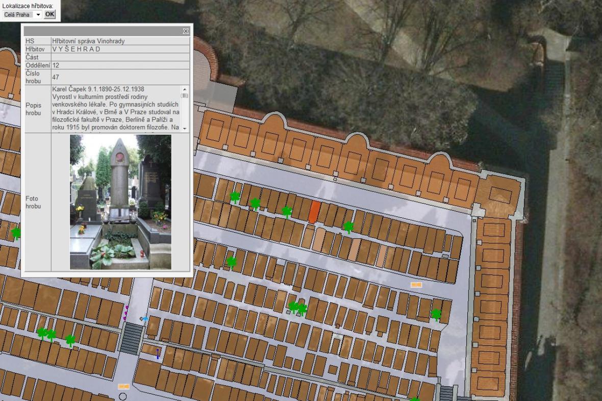 Digitalizovaný pražský hřbitov na Vyšehradě