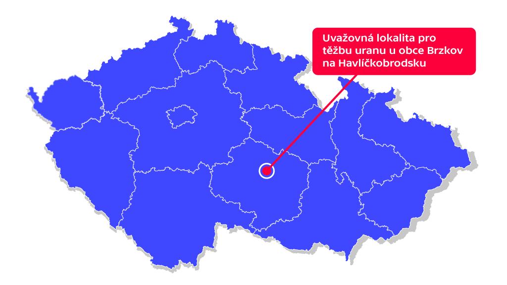 Těžba uranu u obce Brzkov