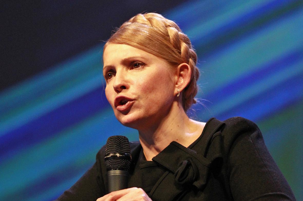 Julija Tymošenková na sjezdu Evropské lidové strany