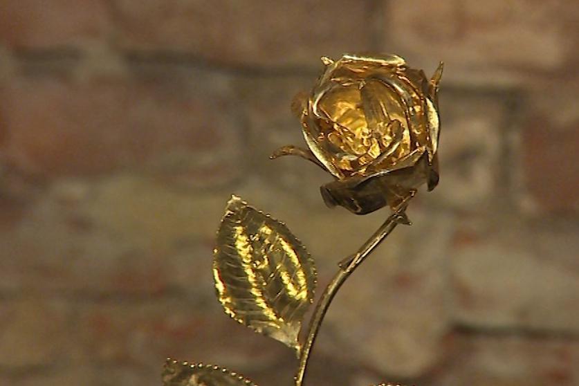 Zlatou růži věnoval Velehradu papež Jan Pavel II.
