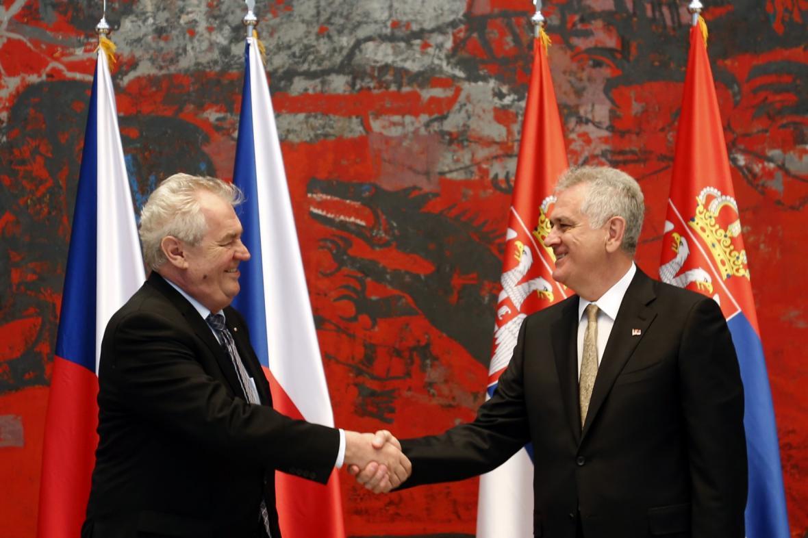 Miloš Zeman a Tomislav Nikolić