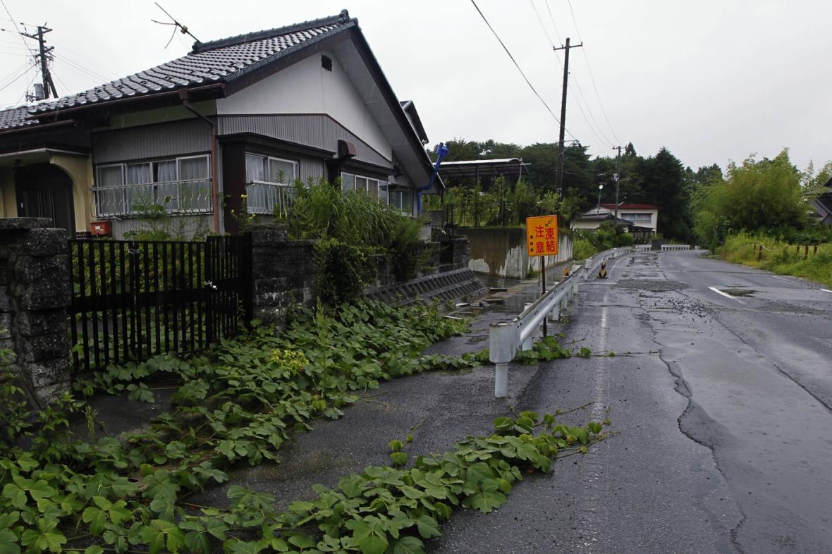 Opuštěný dům u Fukušimy