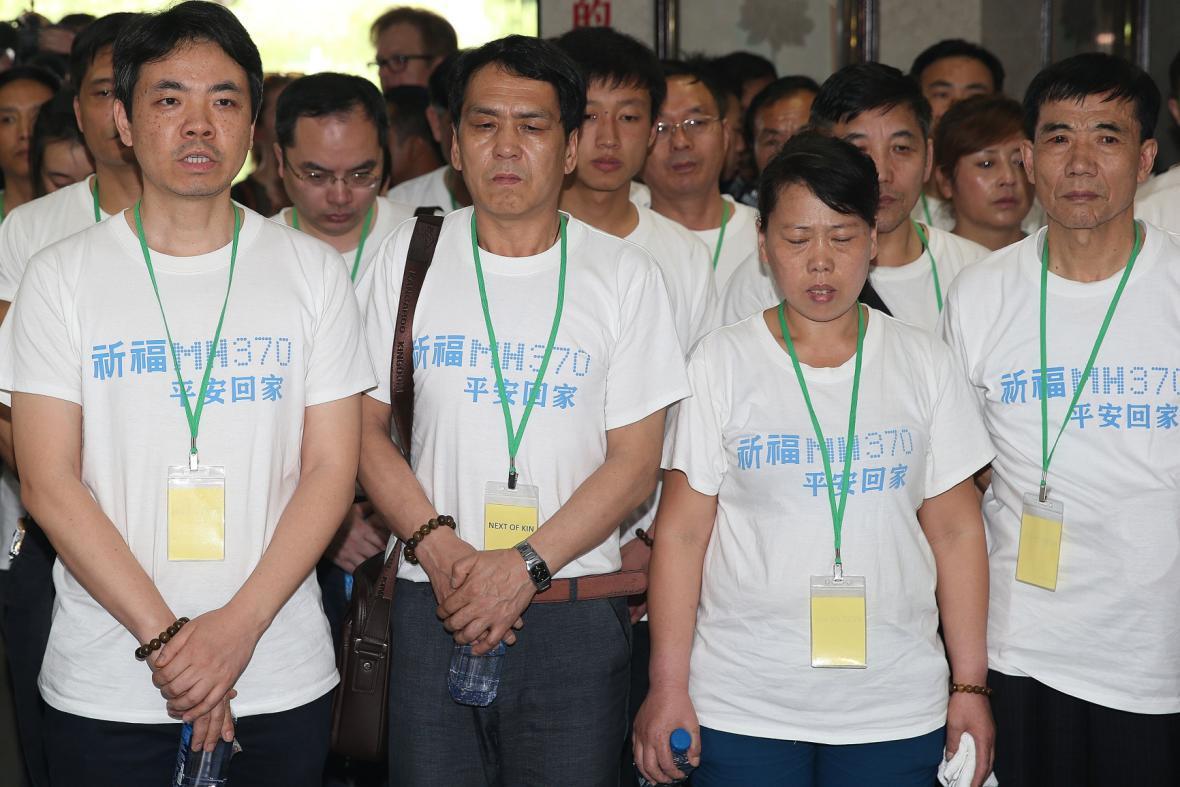 Příbuzní cestujících protestovali v Kuala Lumpuru