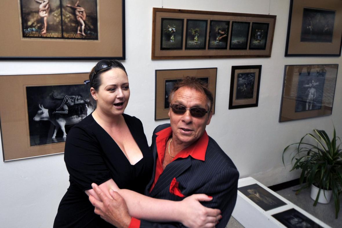 Jan Saudek s manželkou Pavlínou