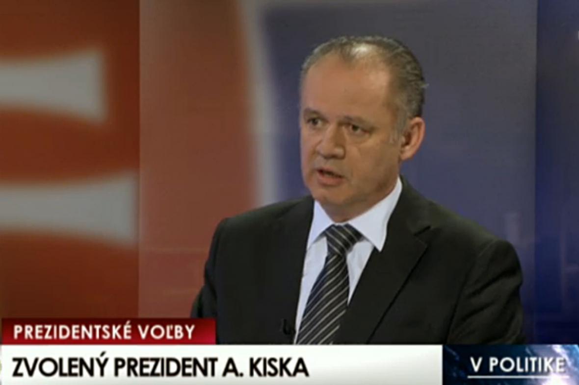 Andrej Kiska při rozhovoru pro TA3