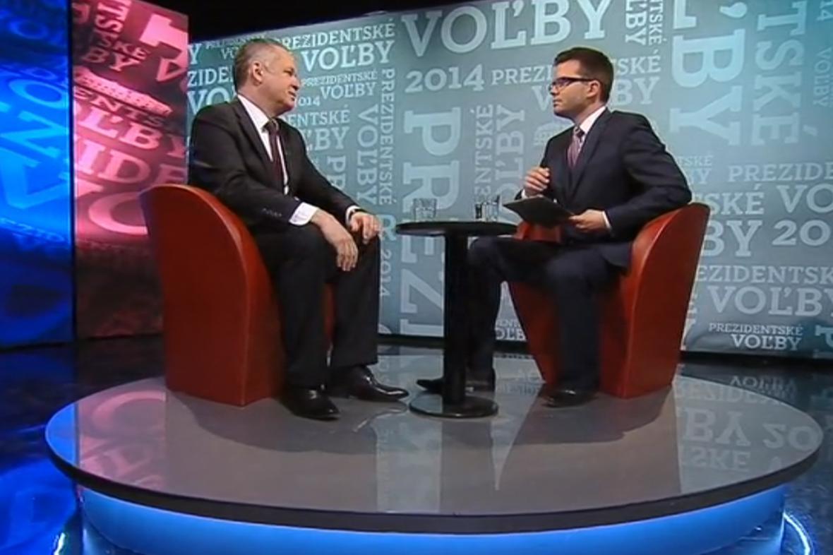 Andrej Kiska v debatě na RTVS