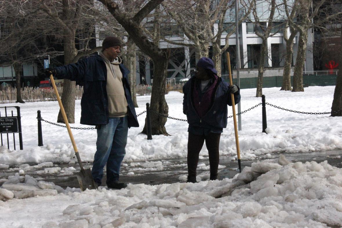 New York po sněhové kalamitě