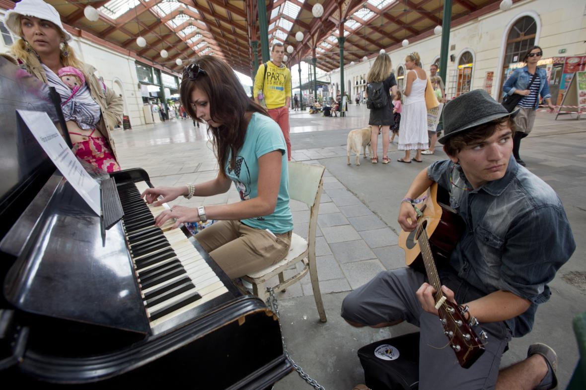 Piano na Masarykově nádraží