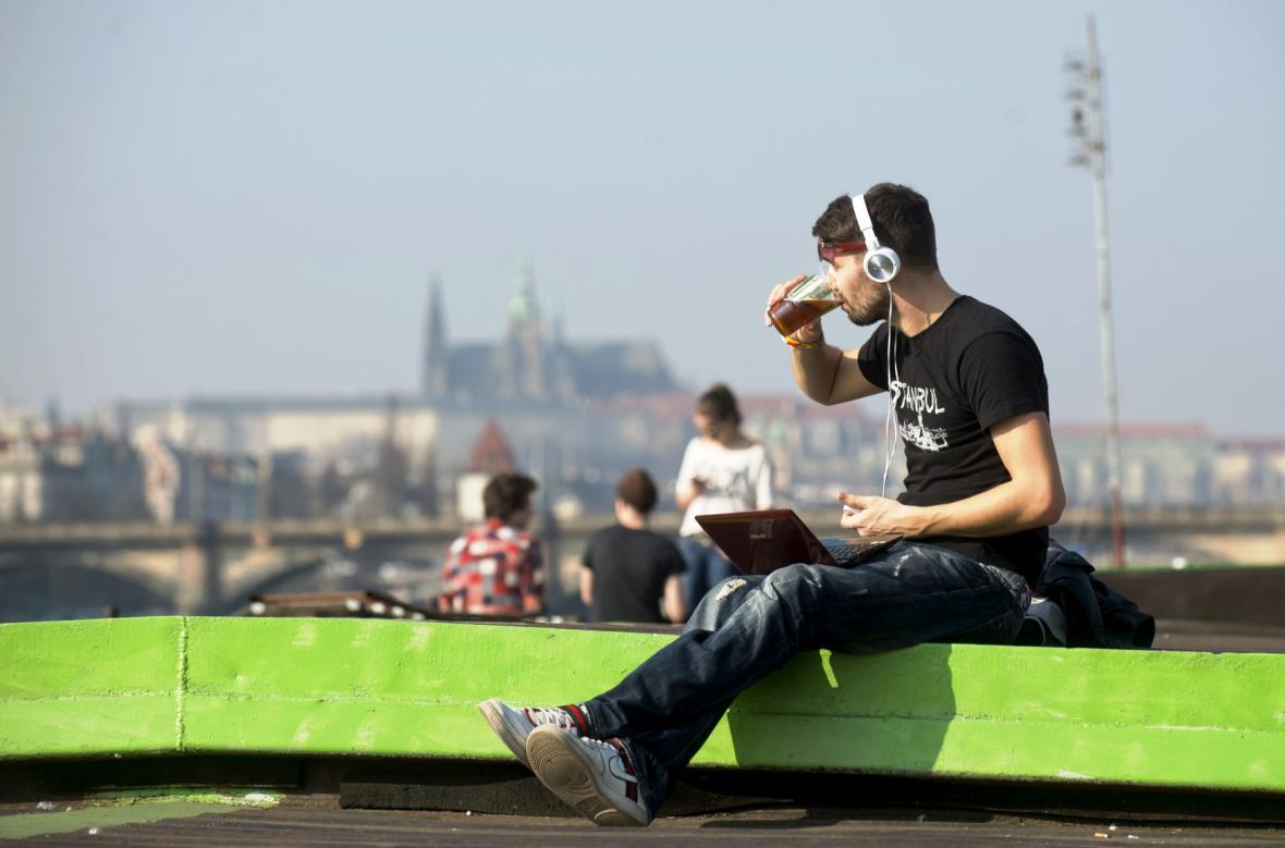 Jarní počasí v Praze