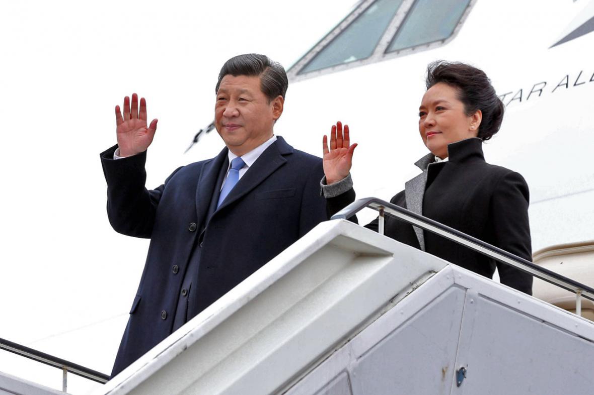 Si Ťin-pching s první dámou Pcheng Li-jüan