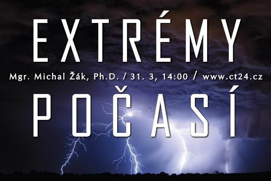 Plakát k přednášce Extrémy počasí
