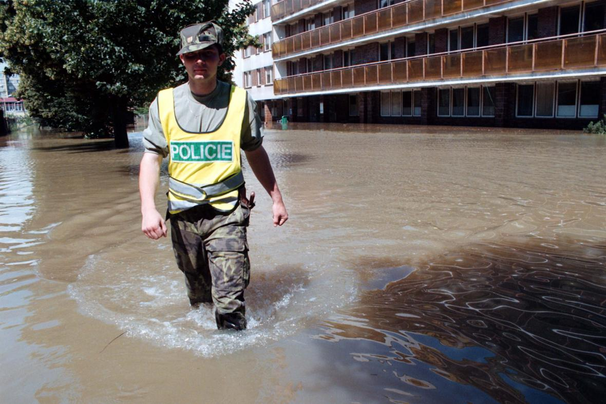 Uherskohradišťská nemocnice při povodních v roce 1997