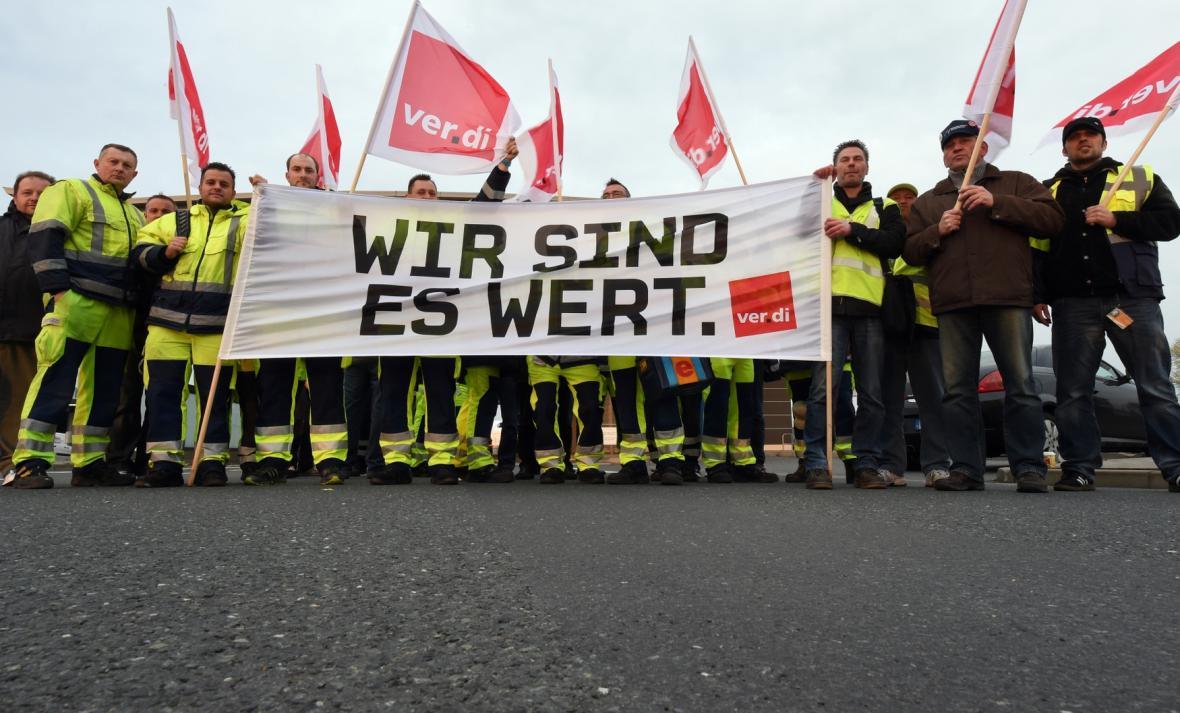Stávka německého letištního personálu