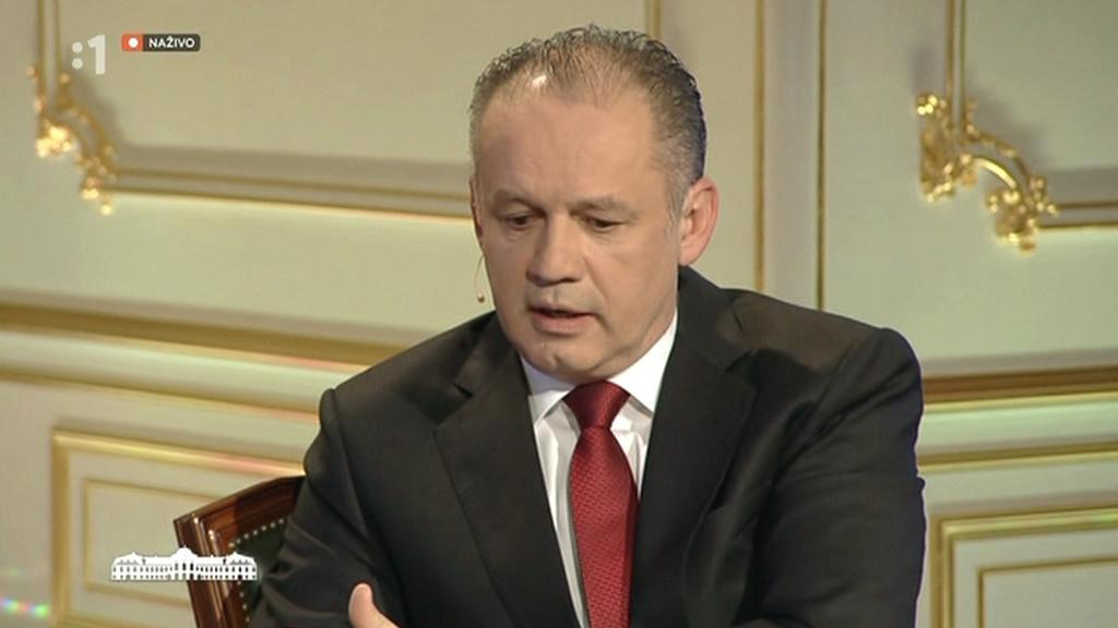 Andrej Kiska během předvolební debaty
