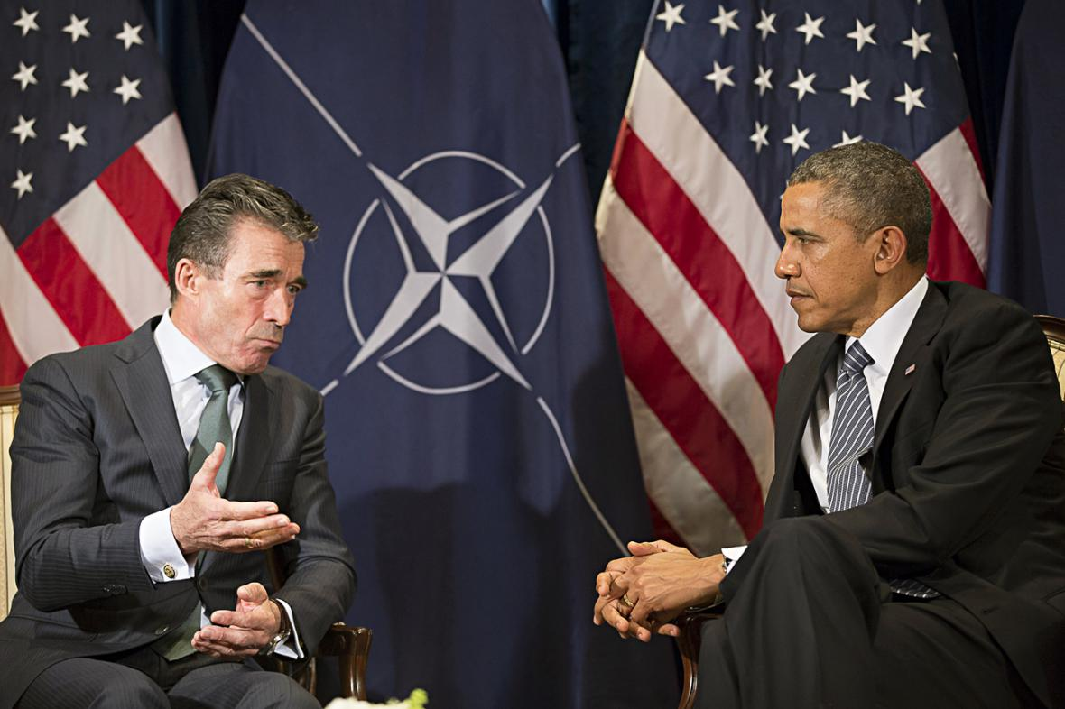 Anders Fogh Rasmussen a Barack Obama