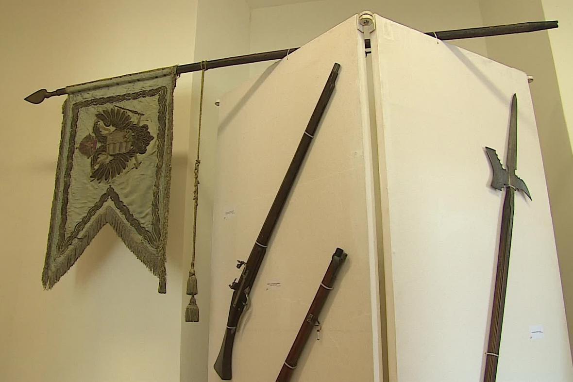 Jedna z výstav připomíná vojenskou tradici Lichtenštejnů