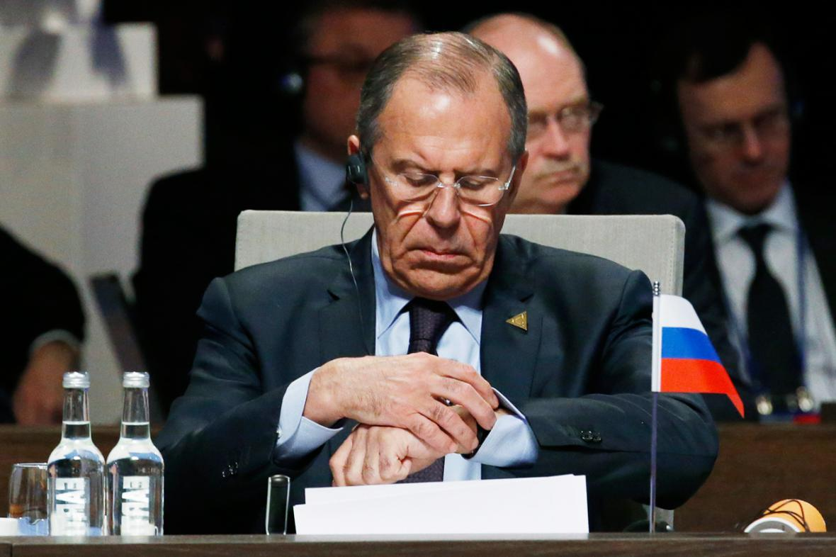 Sergej Lavrov na summitu v Haagu