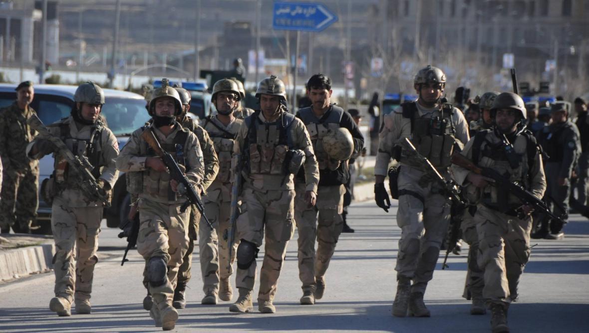 Příslušníci afghánských bezpečnostních složek
