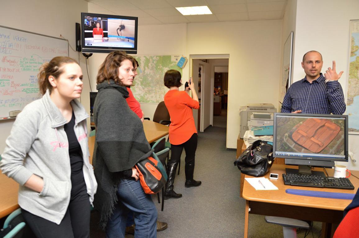 Zpravodajský news room