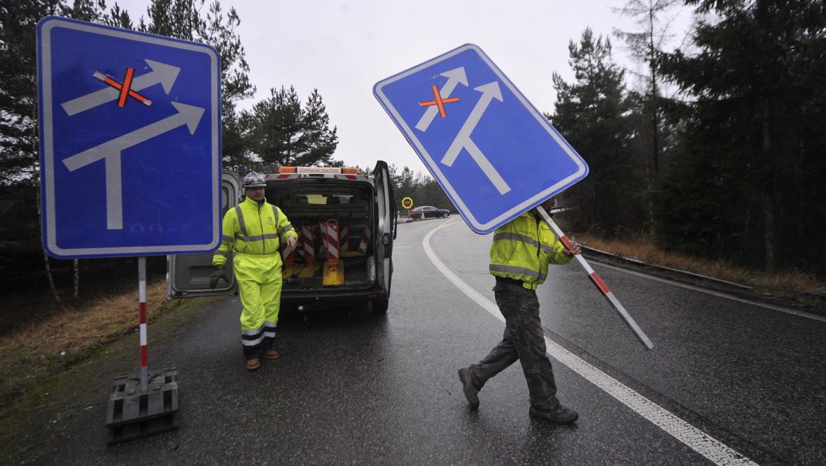 Přípravy na rekonstrukci na dálnici D1