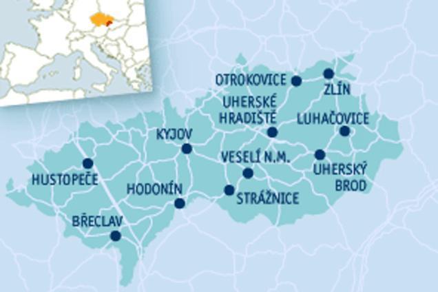 Mapa Slovácka