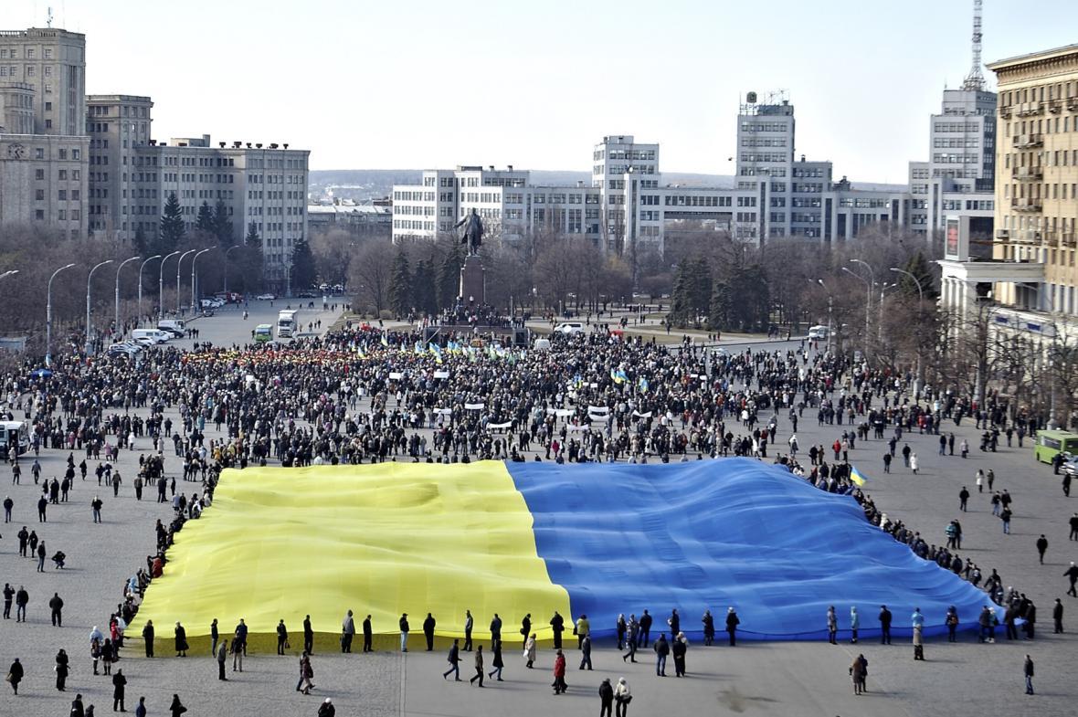Proukrajinské protesty v Charkově