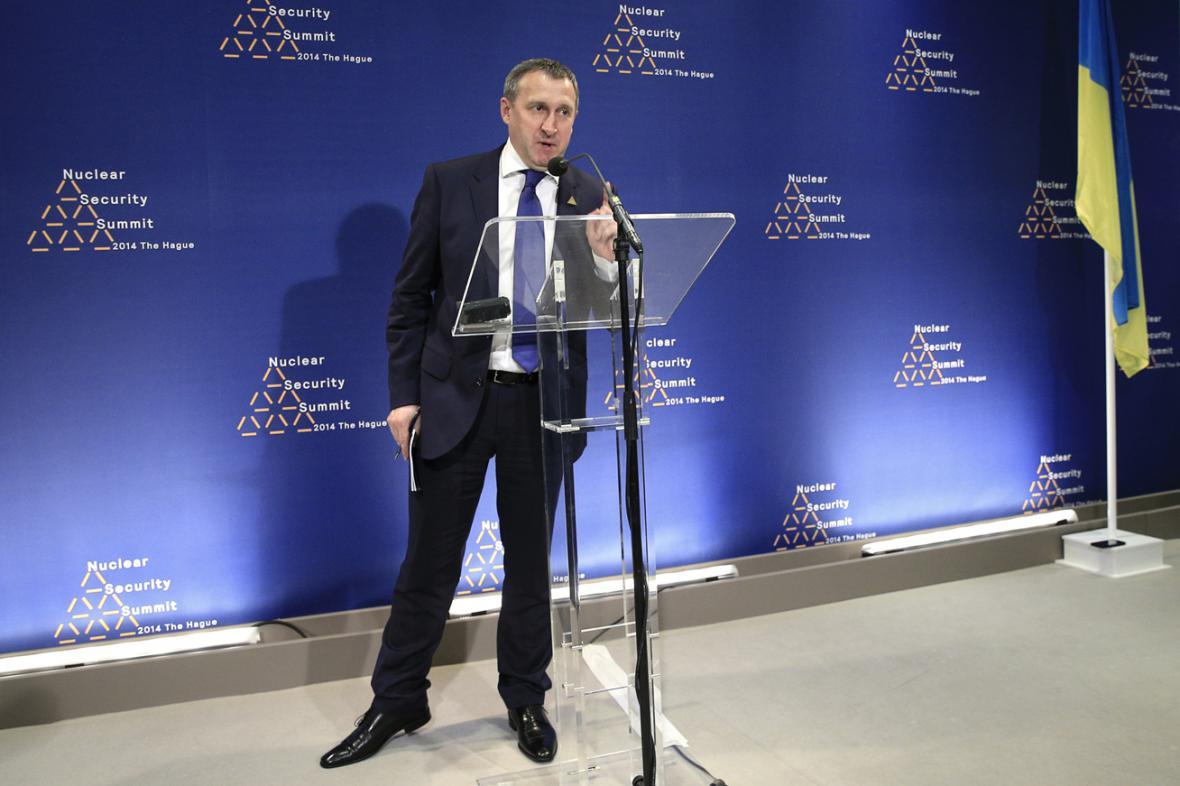 Andrij Deščycja na summitu v Haagu